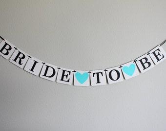 bridal shower banner - bridal shower decorations - wedding decorations - Bride to Be