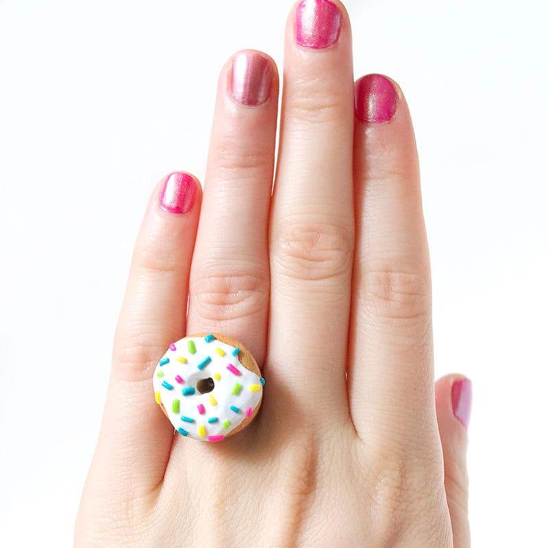 Rainbow Sprinkle Donut Ring Food Jewelry Cute By Shopbitesize
