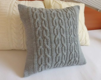 Knitting Patterns For Cushions And Throws : Knit pillow cover Etsy