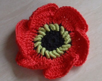 Crochet Flower (Poppy) in 2-3/4 inches YH-191-0