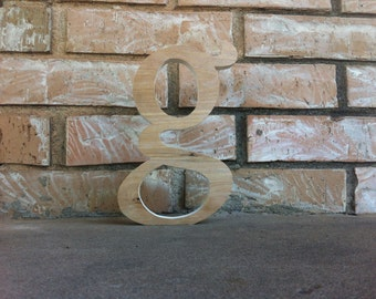 11 to 16 Inch Unfinished Wooden Letter - lower case g