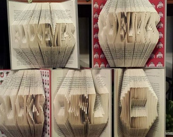 Folded Book Art - Ohio State - Choice of 1 (Made to order)