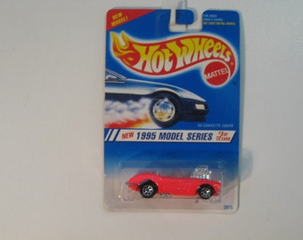 """Mattel Hot Wheels '58 Corvette Coupe """"New for 1995 First Edition"""""""