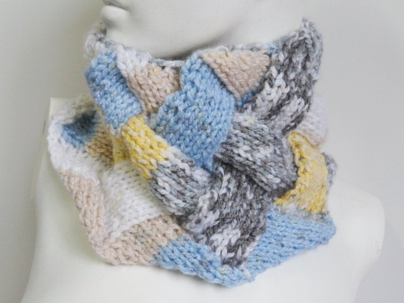 Entrelac Cowl Knitting Pattern : Knit / Entrelac Cowl