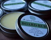 Cutting Board Rub / Wood Conditioner, All Natural, Handmade with Organic Ingredients, 2oz. Tin