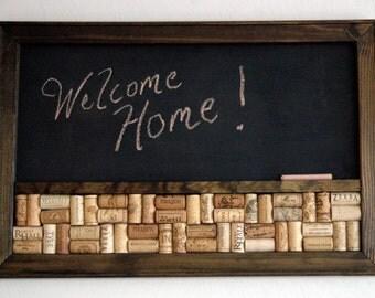 Framed Wine Corkboard  Chalkboard Combo