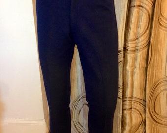 Vintage Navy Blue Ban-Lon, Dacron Doubleknit Polyester Slacks, Puritan, ca 1970s