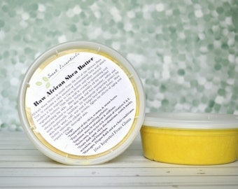100% Pure Organic Unrefined Yellow Shea Butter - 8oz - Imported From Ghana - Free Shipping