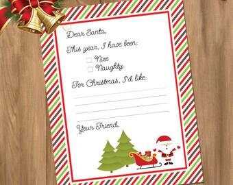 Letter to Santa - Instant Download