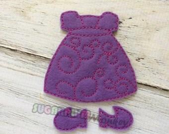Purple & Pink Non Paper Doll Dress