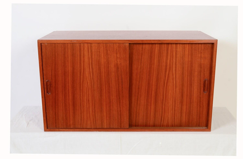 Danish Modern Teak Wall Unit Floating Cabinet by HG Furniture