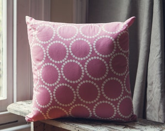 Pink and White Pearl Bracelets cushion cover/pillow from Lizzy House for Andover Fabrics cushion 45cm