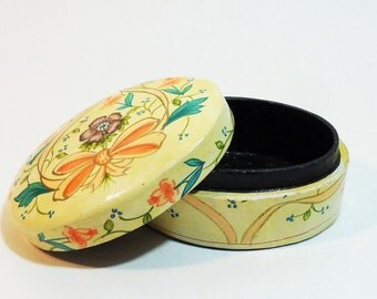 70's hand painted Indian small wooded box