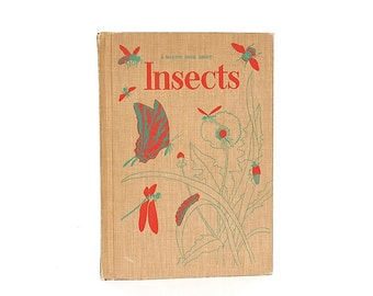 Vintage Insect Book - Entomology Illustrations - Vintage Children's Book Decor - Insect & Bug Picture Book - Insect Decor - Bug Decor