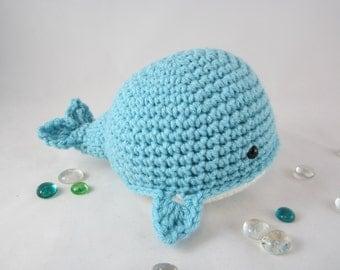 Whale Plush, Crochet Whale, Crochet Stuffed Whale, Amigurumi Blue ...