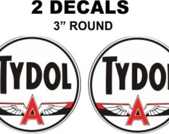 2 Tydol Flying A Gasoline Decals