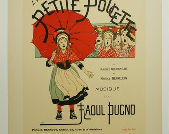 Boutet de Monvel, Maitres de L'Affiche Poster, France 1898, Plate No.106, Ad for a Paris musical production of La Petite Poucette.