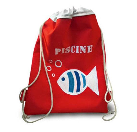 sac dos imperm able enfant rouge taille large. Black Bedroom Furniture Sets. Home Design Ideas