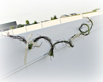 Moss Garland, Rustic Garland, Vine Garland, Grapevine Garland, Twig Garland, Moss Decor, Moss Wedding Decor, Woodland Party Decoration