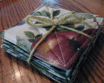Sonora Fruit Fabric Coasters (Set of Six) -- Free Shipping