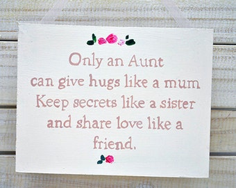 Shabby Chic Sign - Aunt