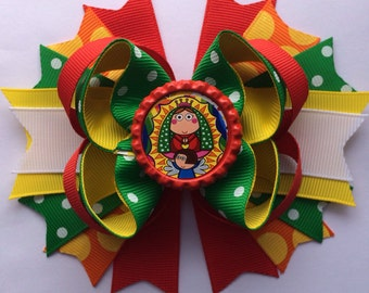 Virgen Guadalupe  hair bow