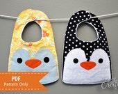 Bird or Penguin Baby Bib PDF Pattern