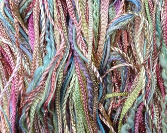 Creative Embellishment Threads, One Off, No.39 Pistachio,  Hand Dyed Thread Selection, Cotton and Viscose Thread, Embroidery Thread
