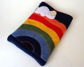 iPad Mini Sleeve, Ipad mini cover made from recycled sweaters in rainbow colours
