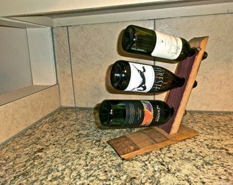 Barrel Stave 3 Bottle Countertop Wine Rack – Lil Buddy