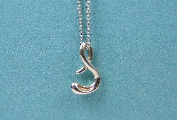 Tiffany co elsa peretti letter s alphabet pendant necklace for Elsa peretti letter pendant review