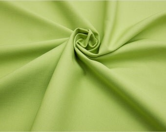 Organic Cotton Poplin Fabric, GOTS certified // light green