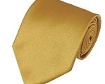 mens Honey Gold necktie custom made many colors