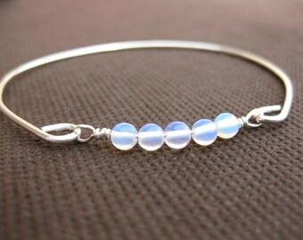 Natural Opal Bangle Bracelet, Gold or Silver Opal Bangle Bracelet, Opal bangle, Opal jewelry, Vintage Opal bangle bracelet, October Birthday