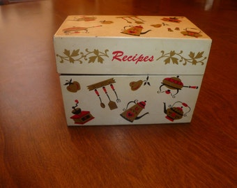 Vintage Recipe Box from 1960s with Vintage Recipes
