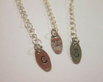 Bridesmaid Necklace Custom Stamped extender chain added to your order