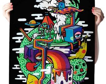 Colorful Life Art Print Poster