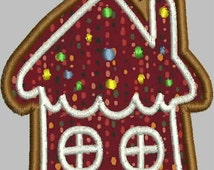 Gingerbread House Ornament /Towel Holder Machine Embroidery Design