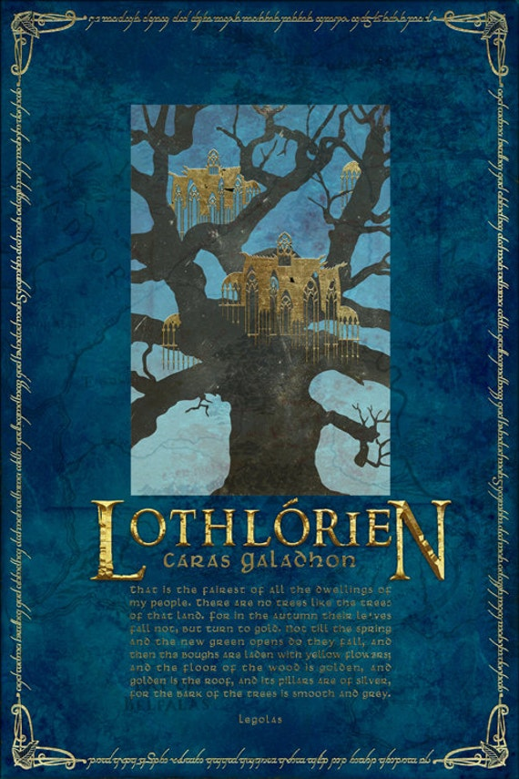 Lothlorien Travel Poster From The Lord Of The Rings And The