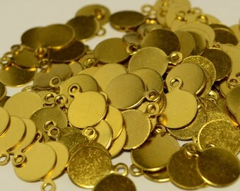 500 Pieces Raw Brass 8 mm Stamping Disc