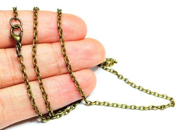 12 pcs antique bronze 165 feet 50 cm necklace chains. Black Bedroom Furniture Sets. Home Design Ideas
