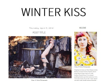 Blogger Template- Winter Kiss Instant Download