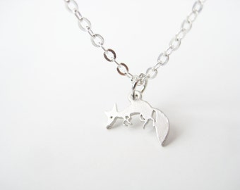 tiny fox | dainty silver necklace | gift for her | by Bracari
