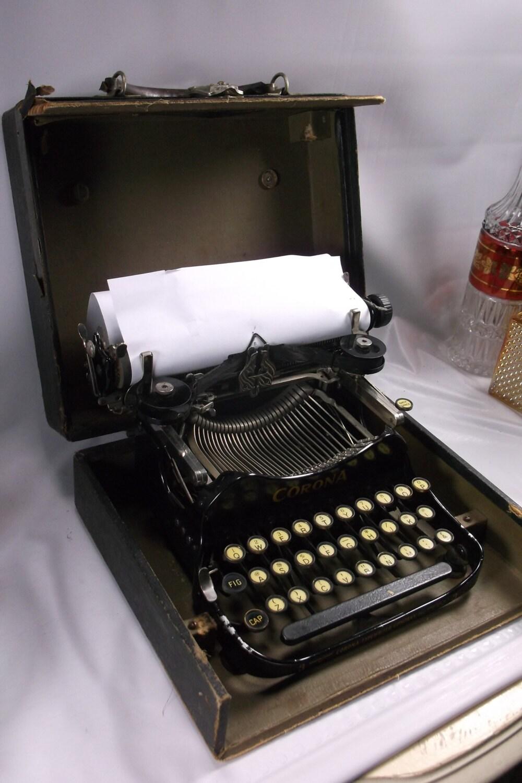Antique 1910 Smith Corona Folding Typewriter Wonderful