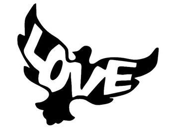 Dove Love Vinyl Decal Sticker