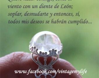 Anillo diente de león / dandelion ring