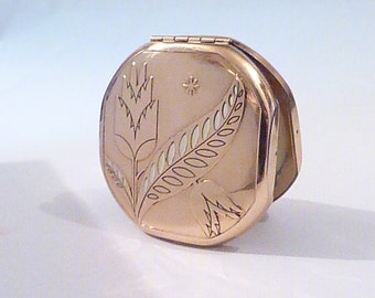 Richard Hudnut 'Tulip' compact duo vintage compact mirrors ART DECO POWDER compacts 1930s