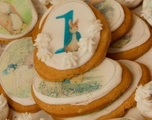 Edibl Peter Rabbit Beatrix Potter images, Personalised  Edible Wafer Cup Cake Toppers, Baby Shower : PRINTED WAFER PAPER