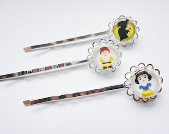 Snow White hair clips hairpins hair accessories