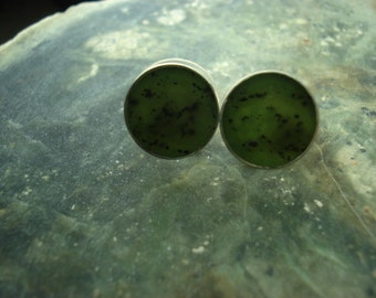 Serpentine post earrings.